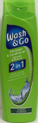 THREE PACKS of Wash & Go 2in1 Shampoo & Conditioner Classic 200ml