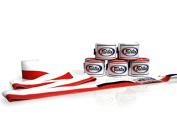 Fairtex Handwraps Full-Length Elastic 100% Cotton Red/White Flag 460cm .
