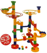 Large 53pc Marble Run Kids Toy Play Fun Multicolor (SI-TY1040) by Lado