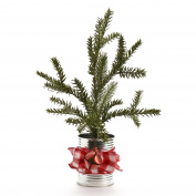 Pine Tree Plastic 46cm Metal Pot/Bow/Bell