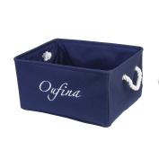Foldable Home Shelf Baskets Clothes Organiser Burlap Fabric Bin with Handles