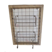 Sagebrook Home WM10355-01 Framed Wall Baskets, 46cm x 17cm x 70cm , Brown