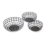 Sagebrook Home 11707 S/3 Metal Baskets, 35cm x 35cm x 13cm