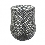 Sagebrook Home 11693 Metal Barrel Basket , 36cm x 36cm x 44cm Metal Barrel Basket,,36cm X 44cm