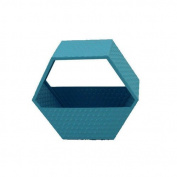 Sagebrook Home 10932 Metal Wall Basket, 36cm x 16cm x 30cm , Blue
