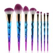 AMA(TM) 8PCS Makeup Foundation Brush Sets Kits Tools Cheeks Eyeshadow Eyebrow Eyeliner Brushes Cosmetic Concealer Brushes Toiletry