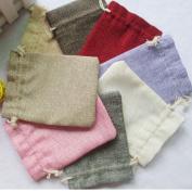 VORCOOL 10pcs Linen Jute Bag Jewellery Pouch Drawstring Gift Bags
