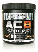 AC8 Xtreme | Pre-Workout Supplement | Energy & Muscle | Fruit Punch Flavour | 300 grammes