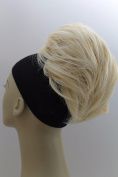 New UpDo short 18cm Length Synthetic Drawstring Scrunchies Instant Hairdo Bun Ponytail Hair do Wig Extension Light Blonde