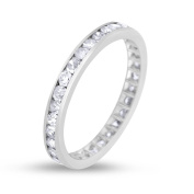 0.75 CT Natural Round Diamond Eternity Band in Solid Platinum