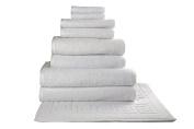 SALBAKOS Giallo 9 Piece Turkish Hotel Collection Bath Towel Set with Tub Mat