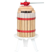 Best Choice Products 6L ( 6.1l Fruit Wine Press Cider Grape Crusher Wood Basket Juice Maker Kitchen