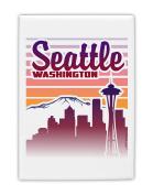 TooLoud Seattle Washington Sunset Fridge Magnet 5.1cm x 7.6cm