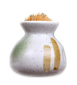 Ceramics Toothpick Holder,Japanese Painting - 4 Colours