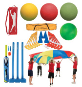 Kids Multiplay Sport Set Foam & Sponge Balls, Play Chute, Eurohock & Cricket Set