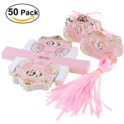 UEETEK 50pcs Carriage Design Candy Boxes Sweets Packaging Favours Gift Boxes for Wedding Party