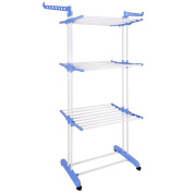Yescom 3 Tier Clothes Drying Rack Folding Laundry Dryer Hanger Airer Compact Storage Steel Indoor Outdoor