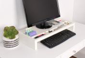 Kate and Laurel Briggs Wood Desktop Organiser Monitor Bridge, White