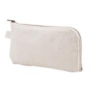 Hflove Unisex Pen Bag Solid Colour Canvas Pencil Bags Girls Pencil Case Cell Phone Case