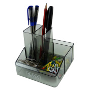 Clip Pencil Holder Desk Organiser Pen Stand Table Stationery Office Supplies