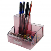 Pen Stand Clip Pencil Holder Desk Organiser Table Stationery Office Supplies