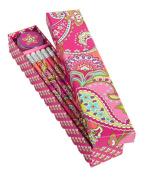 Vera Bradley Pencil Box Set, Pink Swirls