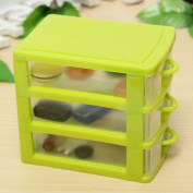 plastic storage box coloured Desktop Plastic Storage Box with Three Drawers Jewellery Organiser Holder Cabinets Fit For Office Home plastic storage box drawers