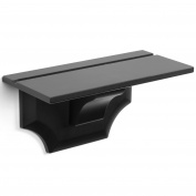 Crown Moulding Ledge 30cm Floating Shelf Black Colour Traditional Decorative Corbel Bracket Style Shelf Durable Mdf Wood Material