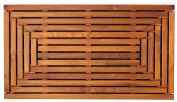 Bare Decor Giza Shower, Spa, Door Mat in Solid Teak Wood and Oiled Finish 90cm x 50cm