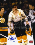 Terry O'Reilly Boston Bruins Signed Autographed No Jersey Blood Drip Face 8x10