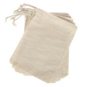 Ling's moment 25pcs 13cm x 18cm Natural Clear Cotton Muslin Favour Bags for Wedding Bridal Shower Bachelorette Party Favour Gifts