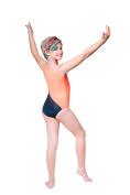 Topsport Girls Gymnastic/Dance Leotard with Matching Hair Tie-Orange