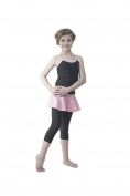 Topsport Girls Gymnastic/Dance Skirted Legging- Pink Foil