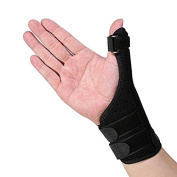 Thumb Support,Yosoo Thumb Splint / Brace Stabiliser Reduces Pain from Thumb Sprains and Strains, Thumb Tendonitis or Post Operation with Adjustable Support Wrist Strap fits Left & Right hand ,One Size, Unisex, Black