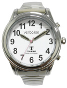 Verbalise Ladies Silver Radio Controlled Talking Watch with Expanding Strap
