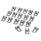 HugeStore 20 Pcs Anti-slip Mini Flocking Clothes Rack Hanger Hooks Holders Connector Grey