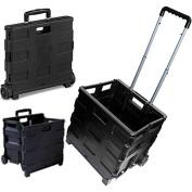 Amaze-UK Folding Shopping Cart Trolley Storage Box Crate with Wheels