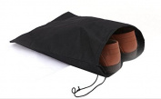 Snowwer 3 Pcs Travel Shoe Bag Organise Storage Clean Neat -black