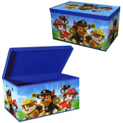 Paw Patrol Large Rectangular Blue Clothes Laundry Bedding Toy Storage Box Bag Chest Tidy Chase Marshall Rubble