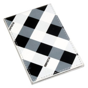 Unbreakable Steel Travel Mirror - Cheque print. This mirror will never break in your hand bag