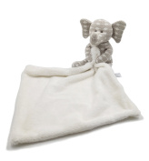 Kiyi-Gift Baby Infant Soft Appease Towel Plush Elephant Toys / Calm Wipes Developmental Toy, Beige Bear with White Jacquard Spots