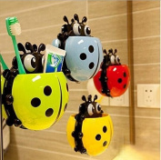 Creative Cute Powerful Suction Toothbrush Holder Toothpaste Tooth Brush Makeup Perfect Gifts