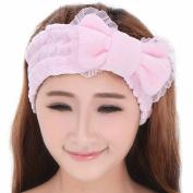 SFamily Fashion Korean Style Girls Elastic Lace Cute Bow-knot Hair Band Bow Headband Mask Wash Face Make-up Bath Shower Hairband