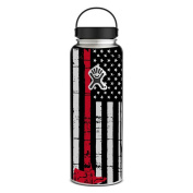 Skin Decal Vinyl Wrap for Hydro Flask 1180ml Wide Mouth Skins Stickers Cover / Thin Red Line Subdued Distressed American Flag U.S. Fire Axe Courage Firefighter EMT
