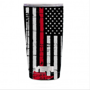 Skin Decal Vinyl Wrap for Yeti 590ml Rambler Tumbler stickers skins cover / Thin Red Line Subdued Distressed American Flag U.S. Fire Axe Courage Firefighter EMT