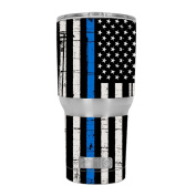Skin Decal Vinyl Wrap for RTIC 890ml Tumbler Skins Stickers Cover Tumbler / Thin Blue Line Blue Lives Matter Subdued Distressed American Flag U.S. Police
