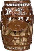 25cm Metal Wine Barrel Cork Storage Holder by Trademark Innovations