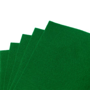 Forest Green Felt Sheets, A4 size, 5 per pack