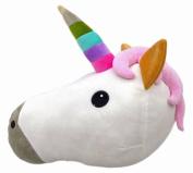 HENGSONG Unicorn Pillow Emoji Head Shaped Soft Plush Pillow Filled Toys