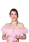 1920s Flapper Girl Baby Pink Feather Boa